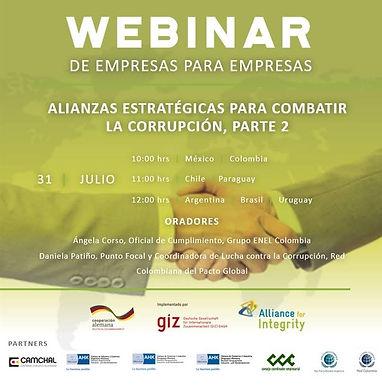 Webinar II | Alianzas estratégicas para combatir la corrupción.