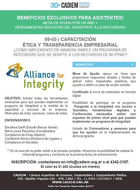 09-05 | Capacitación Ética y Transparencia