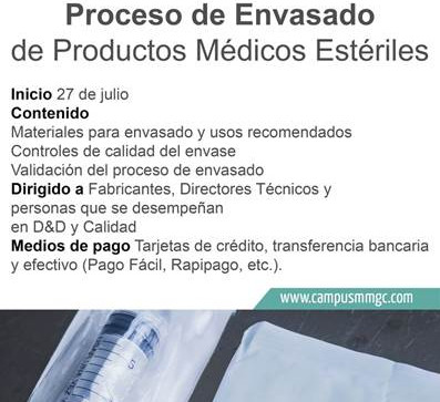 Beneficio Socios | Curso Proceso de Envasado de Productos Médicos  Estériles
