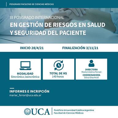 Beneficios CADIEM | Posgrado Internacional en Gestión de Riesgos en Salud y Seguridad del Paciente