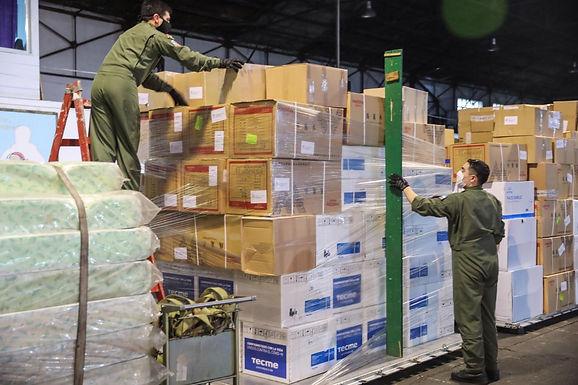 Defensa realiza el quinto vuelo para transportar respiradores e insumos a las provincias