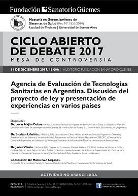 CICLO ABIERTO DE DEBATE 2017 | MESA DE CONTROVERSIA