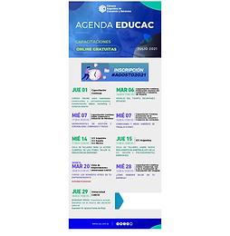 Agenda EduCAC de capacitaciones gratuitas