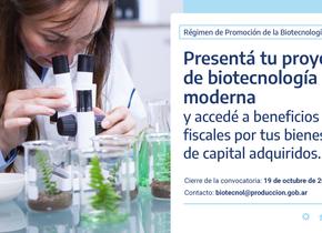 Webinar: Convocatoria 2020 - Régimen de Promoción Biotecnología Moderna