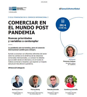 """Webinar """"Comerciar en el mundo post pandemia"""""""