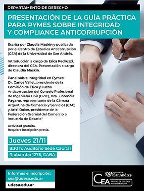 21-11 | Presentación de la Guía Práctica para PyMEs sobre Integridad y Compliance Anticorrupción