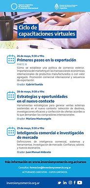 Agencia Argentina de Inversión y Comercio: Ciclo de Capacitaciones Virtuales