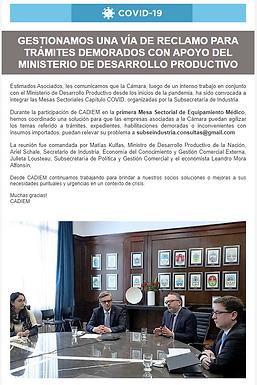 Nueva vía de reclamos con apoyo del Ministerio de Desarrollo Productivo
