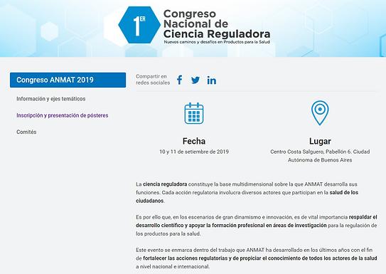 Congreso ANMAT 2019 de Ciencia Reguladora