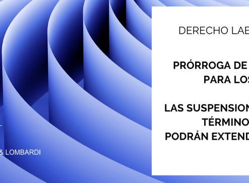 """Prórroga de la """"doble indemnización"""""""