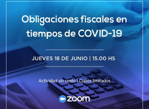 Obligaciones fiscales en tiempos de COVID