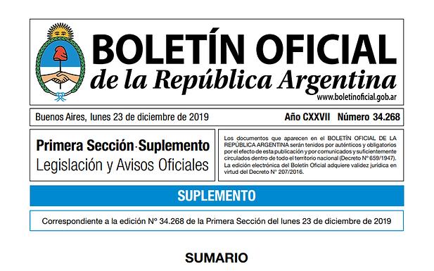Ley de Ministerios | Decreto 7/2019