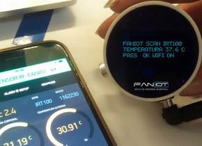 Presentación de los termómetros inteligentes infrarrojos de producción nacional