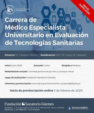 Carrera de Médico Especialista en Evaluación de Tecnologías Sanitarias