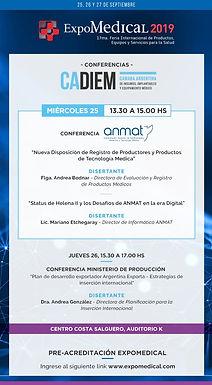 Conferencia CADIEM & ANMAT | Nueva Disposición de Registro y Status Helena II