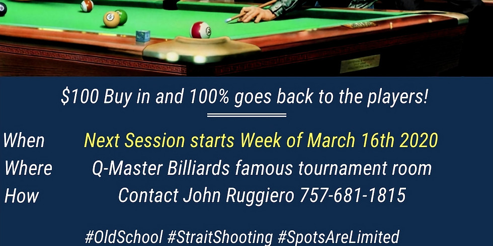 Straight Pool NEW session