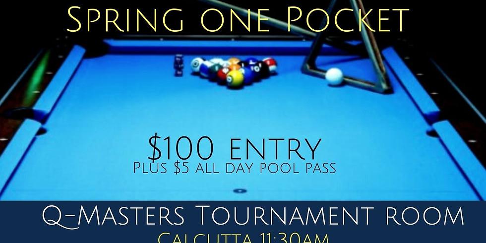 One Pocket Tournament (Non Handicapped)