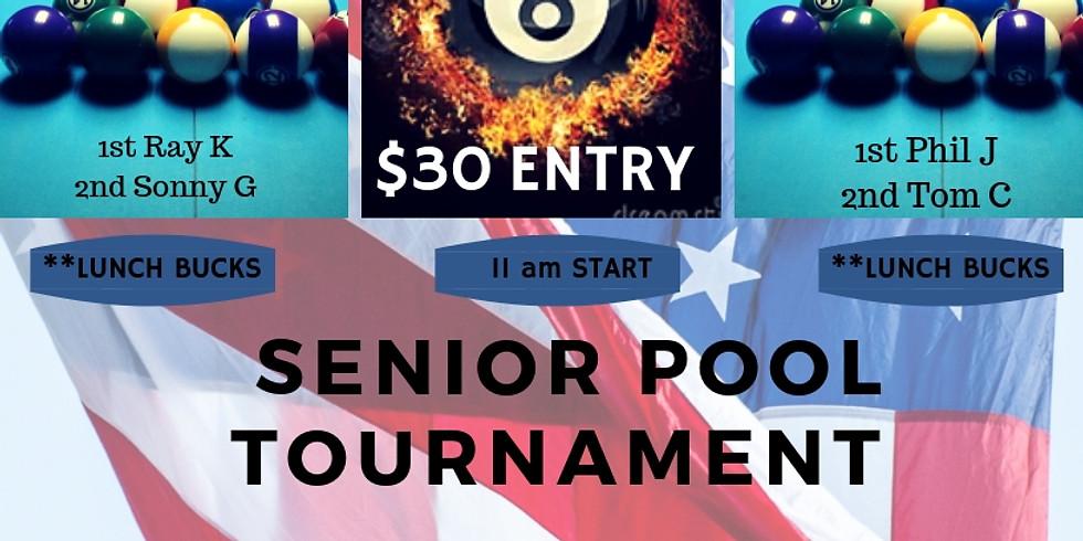 The NEW Senior Pool Tournament