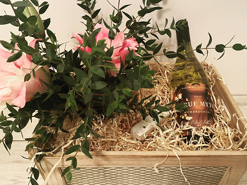 Fresh Flowers & Wine
