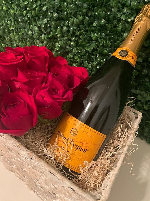 Red Roses & Veuve Cliquot