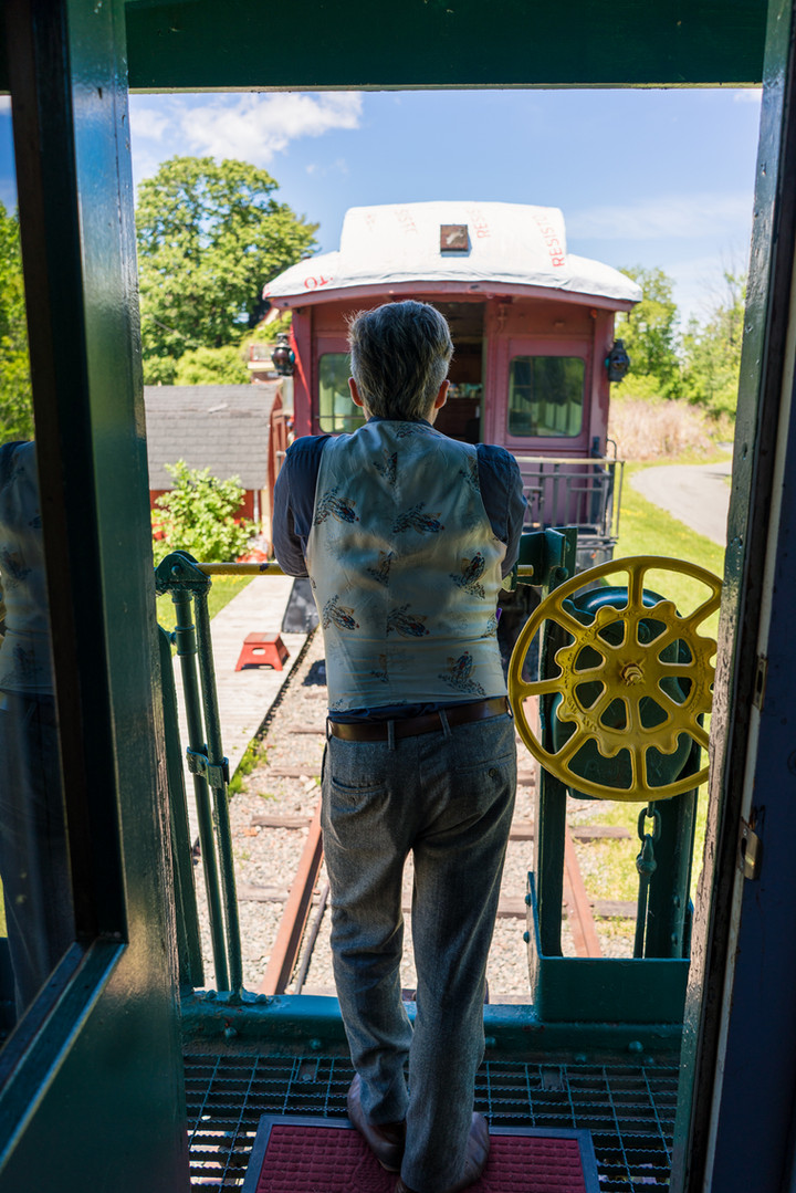 Looking out caboose 5