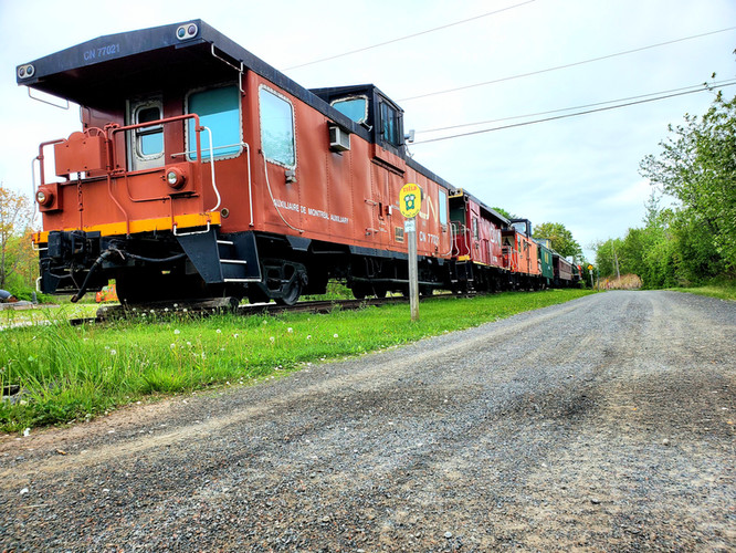 Caboose 8 connecting directly to the Trans Canada Trailhead
