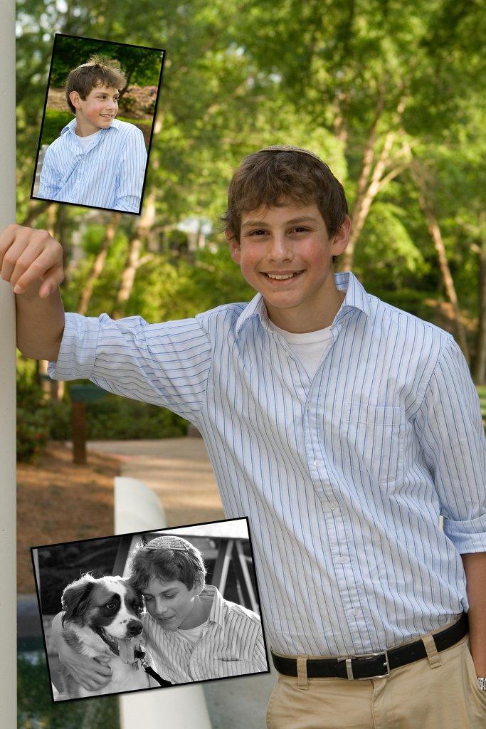 Bar Mitzvah Portrait Composite