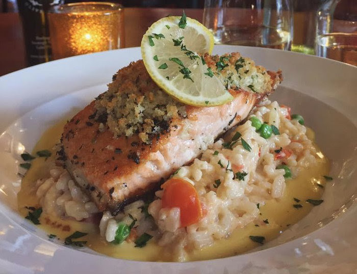Salmon - herb crusted over risotto.jpg