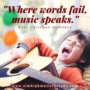 """""""Where words fail, music speaks."""" ~Hans Christian Andersen"""