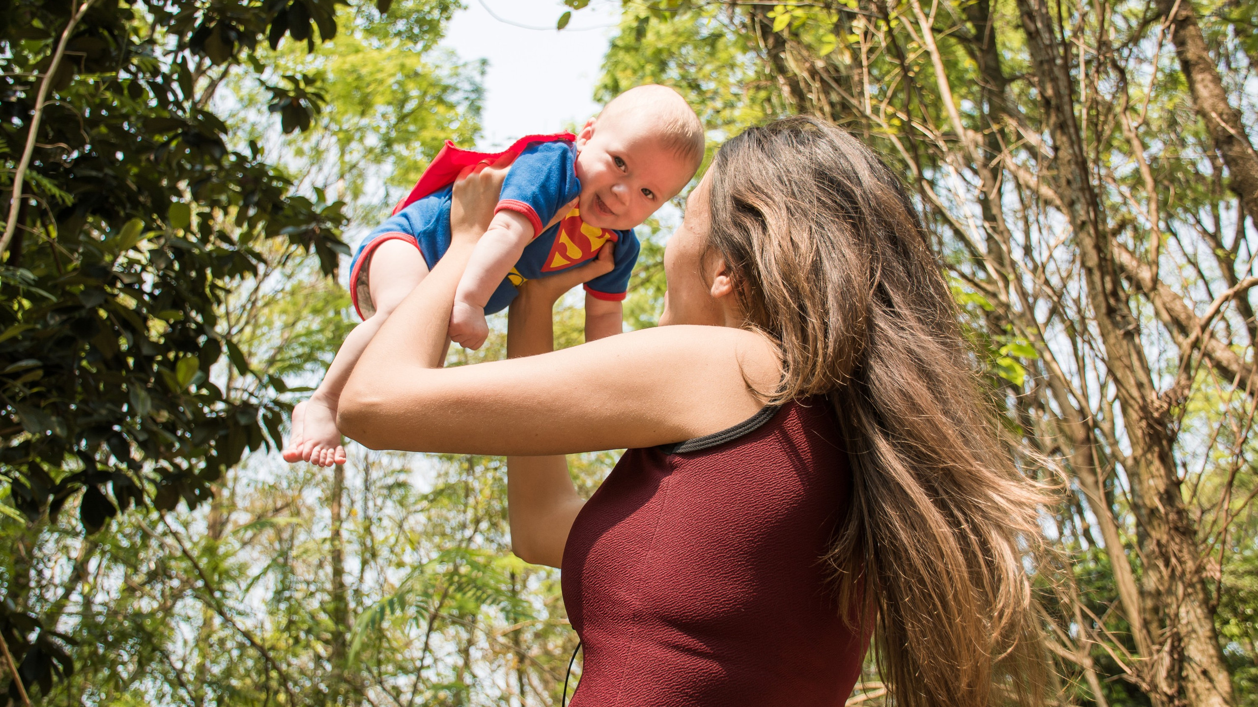 Mother and Super Baby