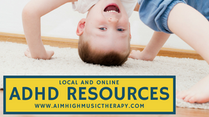 Boy playing happily; ADHD Resources