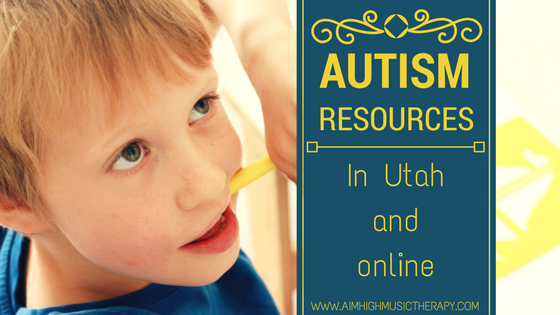 Boy chewing on a crayon; Autism Resources In Utah and Online