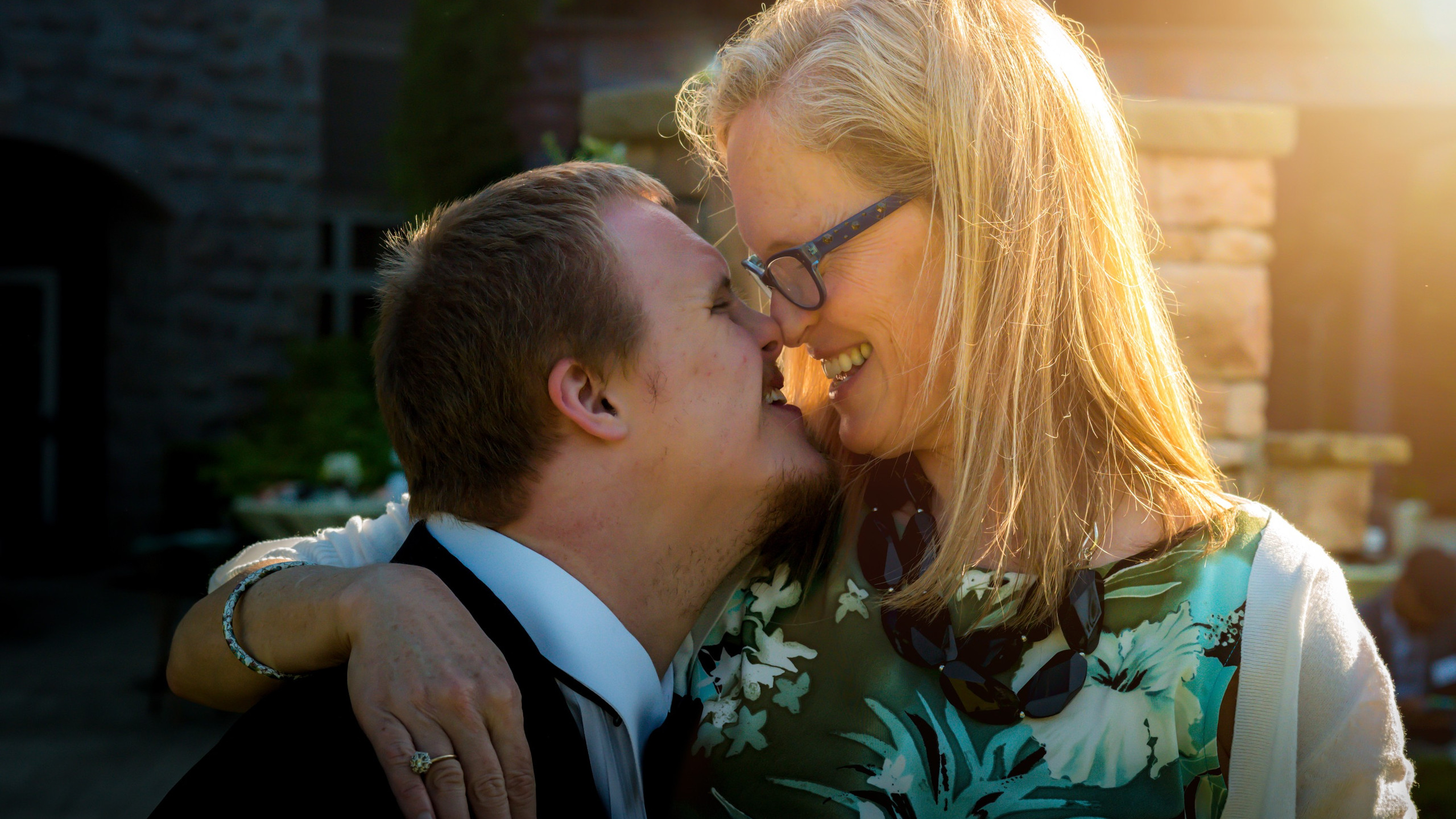 Mother and son with Downs Syndrome
