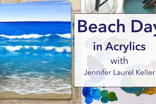 Beach Day in Acrylics Online Class