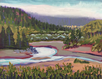 "Eel River South Fork, 11 x 14"""