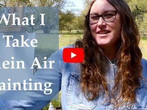 What I Take Plein Air Painting