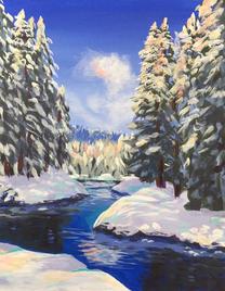 """Snowy Creek, 11 x 14"""""""