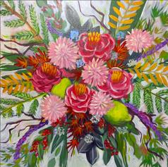 """Beautiful Bouquet, 20 x 20"""""""