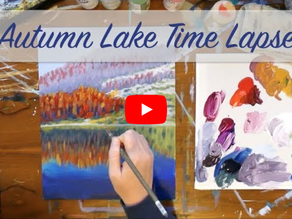 Autumn Lake Painting Time Lapse
