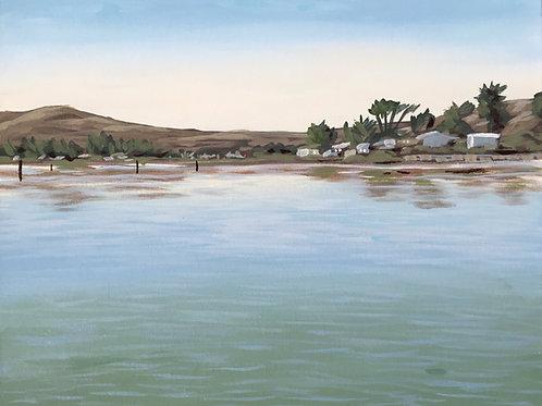 "Bodega Bay, Acrylic on Canvas Panel, 11x14"""
