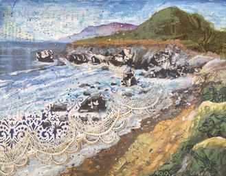 """Coastal Cliffs, 11 x 14"""""""