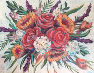 """Vibrant Bouquet 11 x 14"""""""