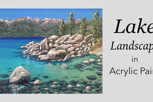 Lake Landscape in Acrylic Paint: Online Class