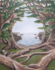 "Cypress Grove, 11 x 14"""