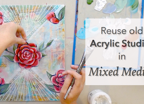 Reuse Acrylic Studies in Mixed Media