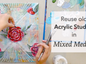 Reuse Acrylic Studies in Mixed Media