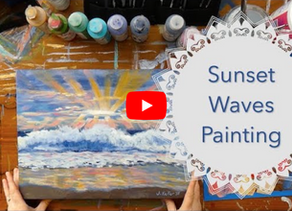 Sunset Waves Time-Lapse Painting