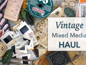 Vintage Mixed Media Haul + Recent Artwork