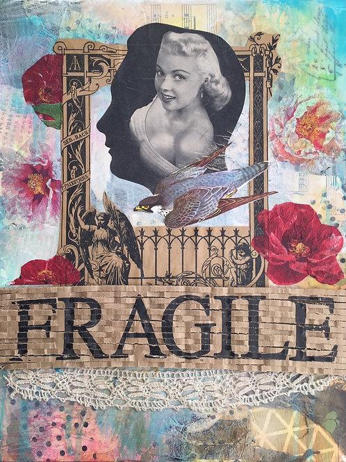 "Fragile, Mixed Media on Canvas Panel, 11x14"""