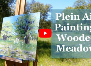 Wooded Meadow Plein Air Painting